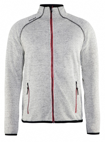Blaklader 4942 Knitted Jacket (Grey Melange/Red)